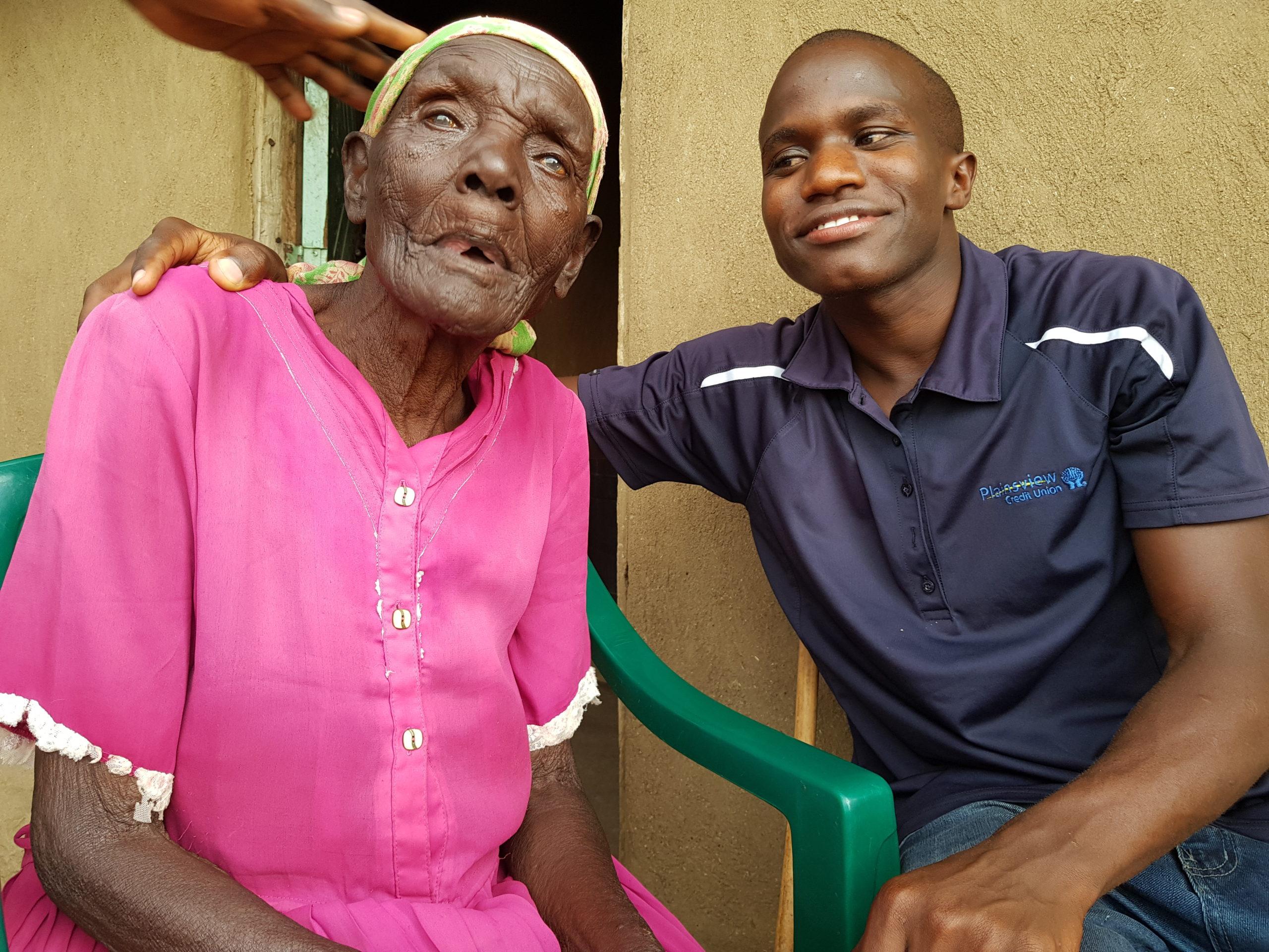 Me and my great grandmother. Photos: Pirjo Syväoja